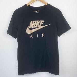 Nike Gold Foil Logo Front Short Sleeve T-Shirt S